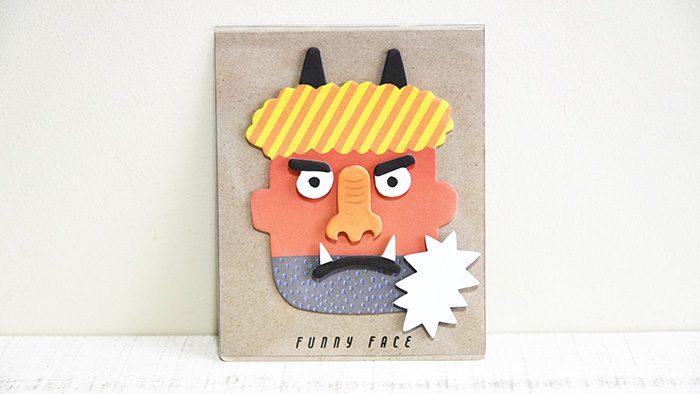 もうすぐ節分!色々遊べちゃう、福笑い的な赤鬼のふせん「Sticky Memo – Funny Face」
