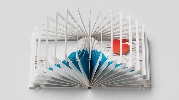 広げると立体的なジオラマが現れるしかけ絵本「360°BOOK」