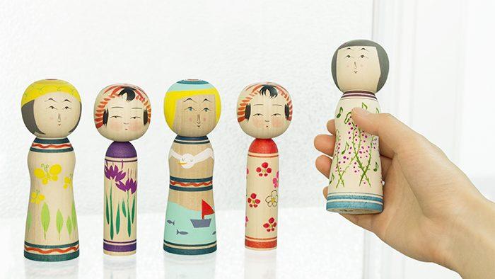 宮城県の「伝統ワザ」と「デザイン」で生まれた創作こけし「こよみこけしシリーズ」