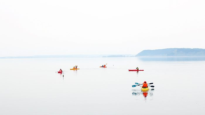 目の前に広がる幻想的な世界!小川原湖のカヤック体験 in 青森・三沢