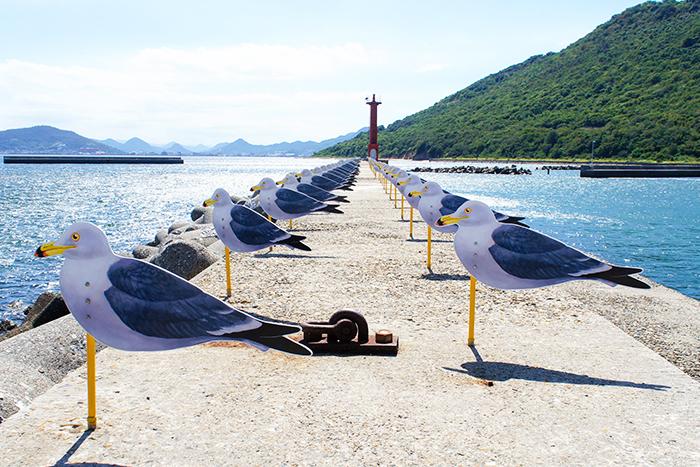 瀬戸内国際芸術祭 カモメの駐車場