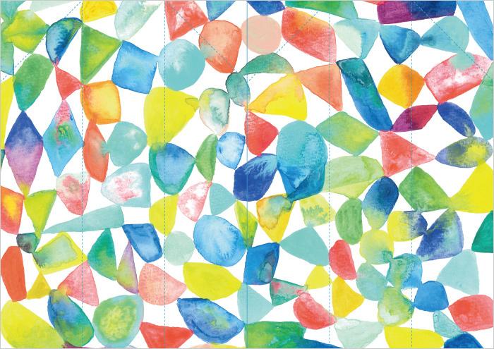 祝い箸の袋は、A4サイズで2つ作れます。A4の中央でカットし、点線を山折りすると、簡単に箸袋がつくれますよ。
