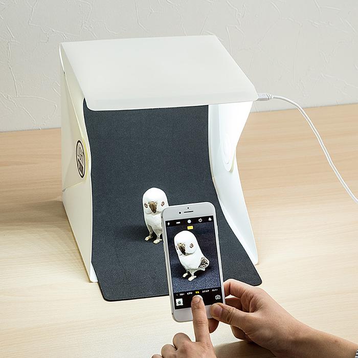 物撮りに最適!コンパクトで持ち運びも可能な「撮影ボックス」見つけました。