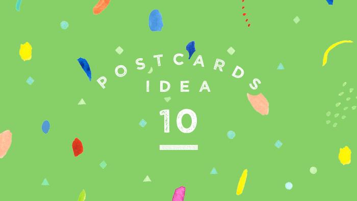 イラスト素材集で遊ぼう!自分で模様をつくるポストカードアイデア10選