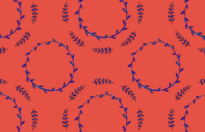 10. 植物のイラストでつくるシームレスな模様デザイン