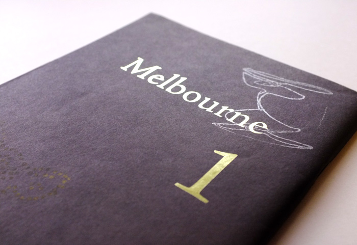 ZINEを知るきっかけになった1冊「Melbourne1」には、見たことのないページが並んでいました。