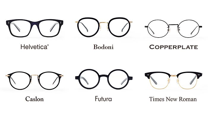 書体をインスピレーションにデザインされた眼鏡ブランド「TYPE」