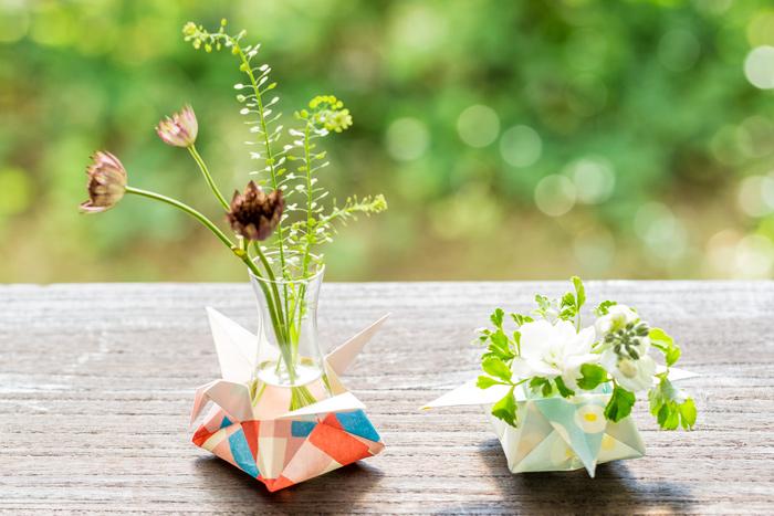 和紙オリガミ花瓶
