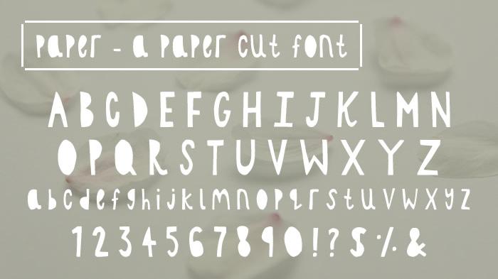 Paper - a paper cut font