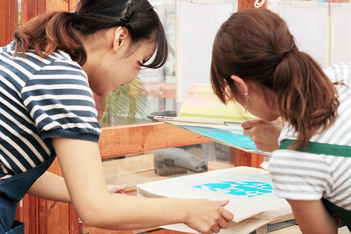 haconiwa 5th 箱庭5周年イベント ワークショップ シルクスクリーン印刷