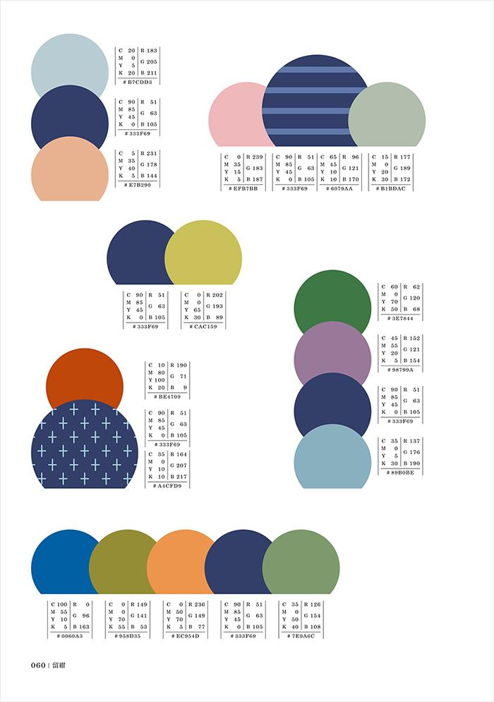 たとえば、「紺」がつく色には、茄子紺、紫紺、留紺、紺鼠など、色のバリエーションも見られるようになっています。