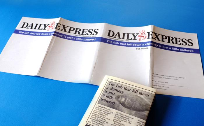 韓国で見つけた、1900年創刊のイギリスの新聞の題字が使われたZINE。