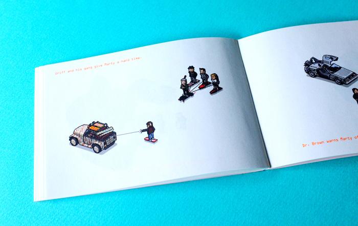 空中に浮くスケートボードが出てきたシーンも、もちろんこのZINEにありました。スイスイ浮いてすべるボードに、未来を想像したのを思い出しました。