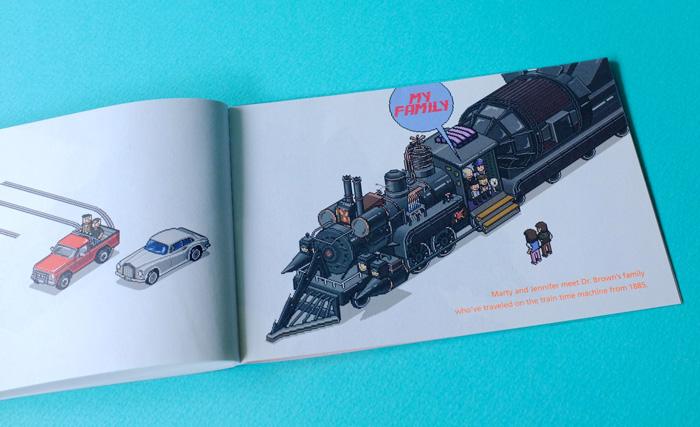 シリーズ2、3に出てきた列車も描かれています。本当に映画そのままで、読みながら映像がでてくるような楽しいZINEでした。