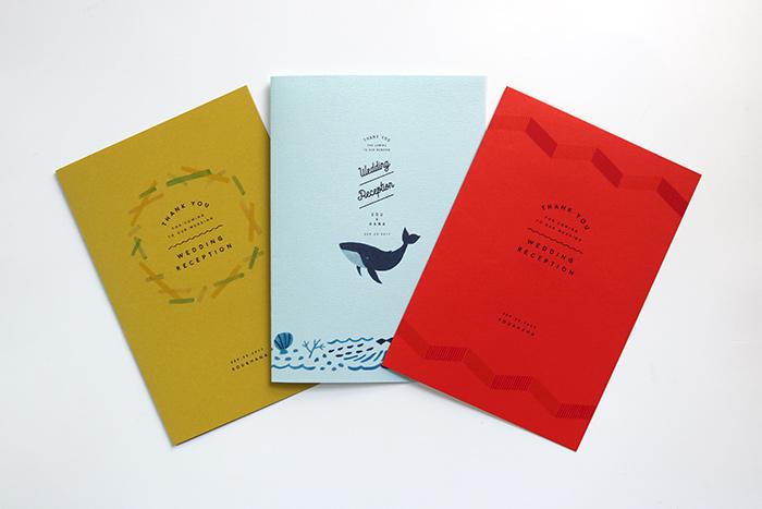 色のついた用紙に印刷すると、印象も変わります。