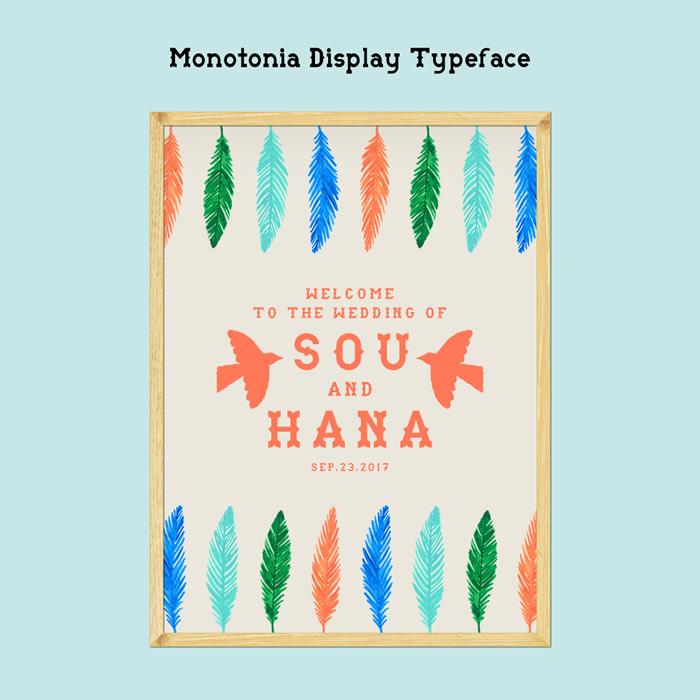 10. Monotonia Display Typeface × BIRD COLLECTION アウトドア好きのふたりに似合う鳥をテーマにしたデザイン