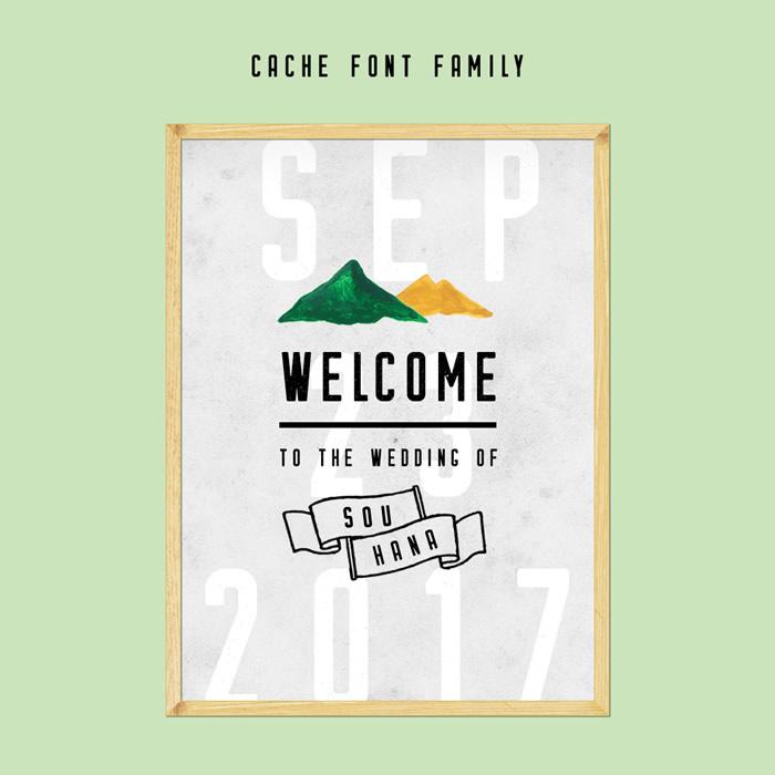 13. Cache Font Family × MOUNTAIN COLLECTION ガーデンウェディングに似合うシンプルな山デザイン