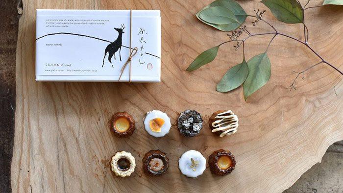 お土産や贈り物にぴったり!奈良の食材を使ったかわいいお菓子「奈良カヌレBOX」を見つけたよ。