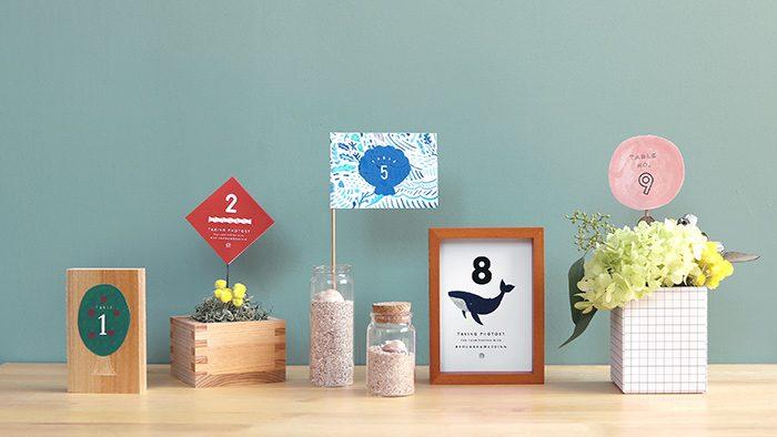 結婚式で使える!テーブルナンバーのデザインアイデア10個