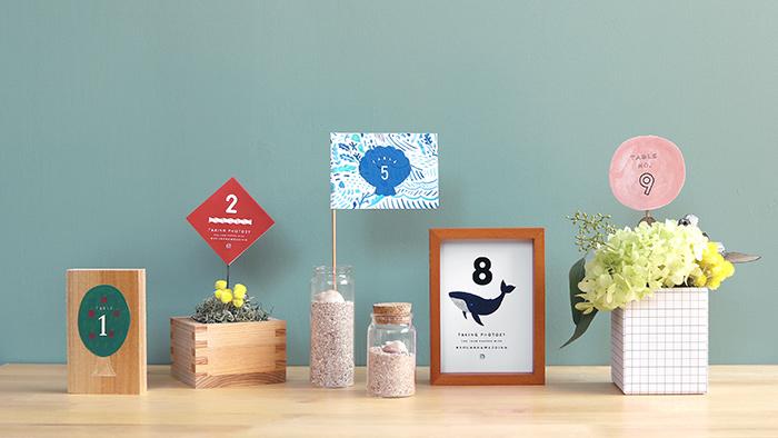 ウェディング素材集 vol.4|結婚式で使える!テーブルナンバーのデザインアイデア10個