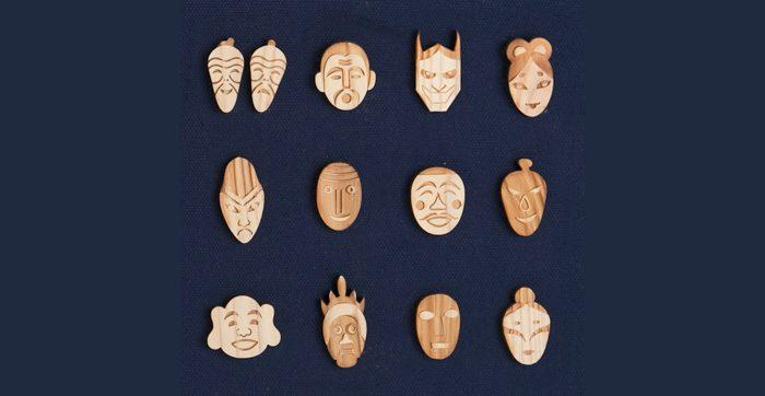 あなたのお気に入りの神様はどれ?杉でできた「日本の神々シリーズ ピンバッチ」