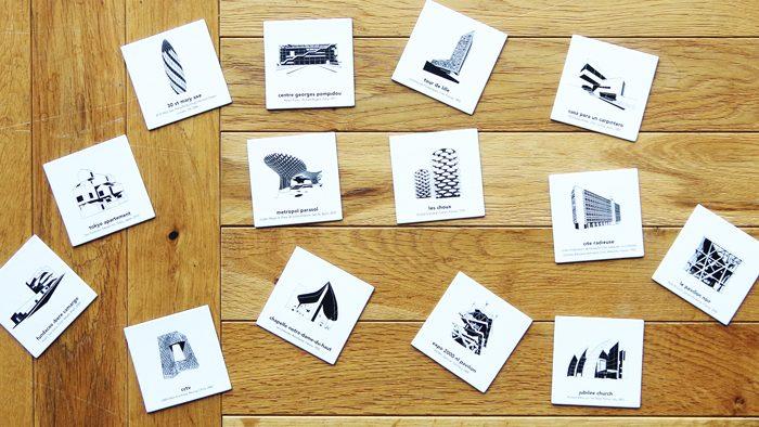 有名建築の神経衰弱カード「アイデンティック 建築記憶ゲーム」
