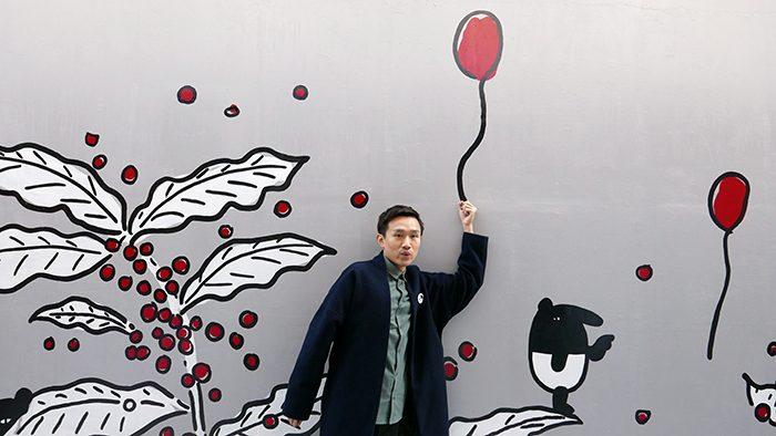 台湾発の人気キャラクターLAIMO(ライモ)のウォールアートがDOMO CAFÉに登場!