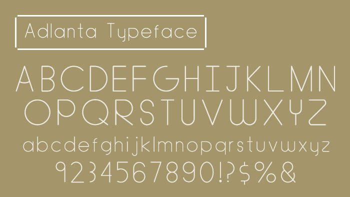 Adlanta Typeface