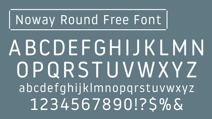 Noway Round Free Font