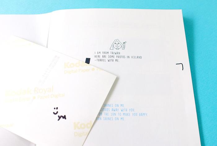 写真の裏には、作者からのサインとメッセージが書かれていました。