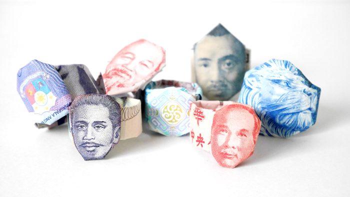 紙幣の柄を絶妙なセンスで折った作品がすごい!ターバン野口でおなじみ、作家・ピロの「世界のお札折り紙展」レポート