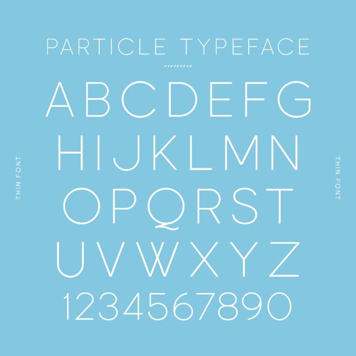 Particle Typeface