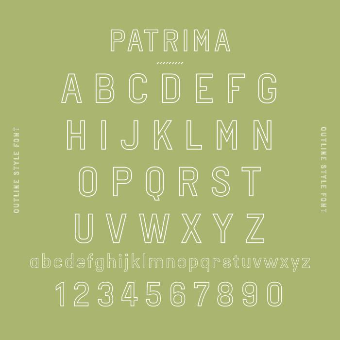 Patrima Typeface