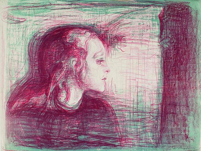 エドヴァルド・ムンク《病める子Ⅰ》1896年