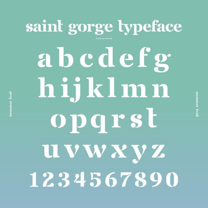 1. Saint Gorge Typeface