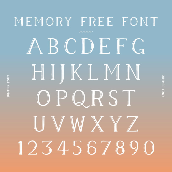 2. Memory Free Font
