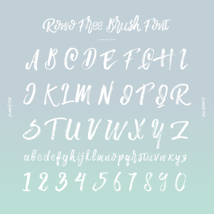 4. Rowo Free Brush Font