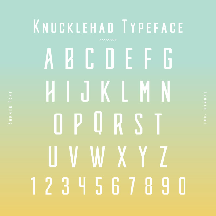 5. Knucklehad Typeface