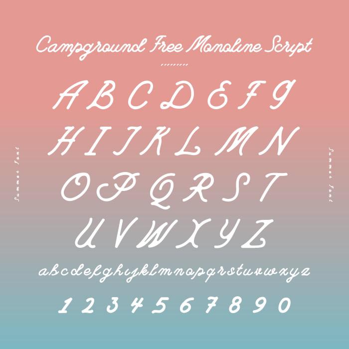 7. Campground Free Monoline Script