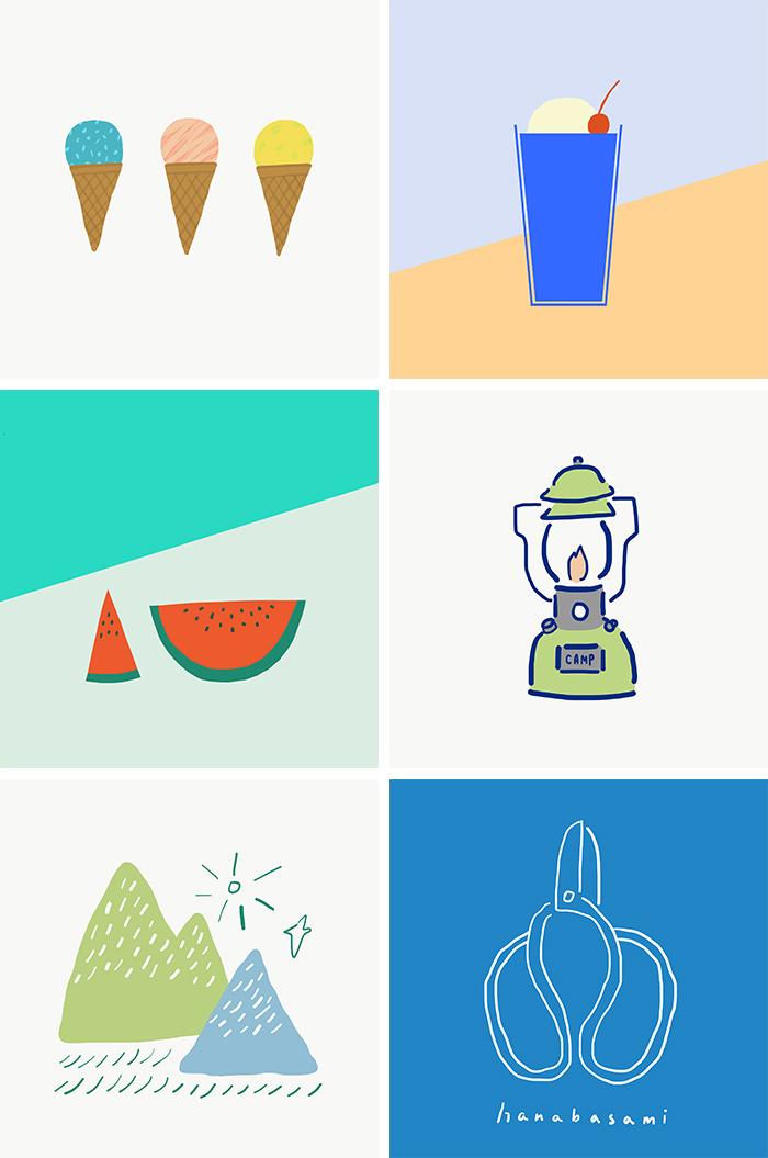 Adobe Illustrator Drawでつくった作品たち