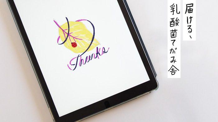 「届ける、乳酸菌てがみ舎」キャンペーン。便せんイラストを担当した柿崎サラさん、制作の裏側。ラフはiPad、本番は手描きで!