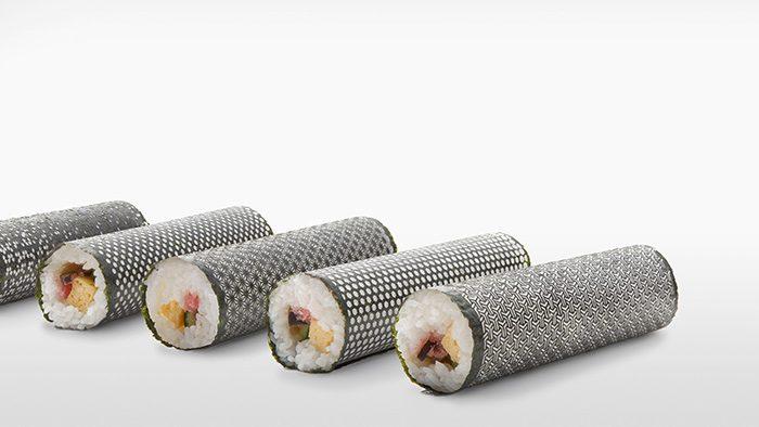 海苔が食べるアートに!繊細な和模様にカットされた「Design NORI」