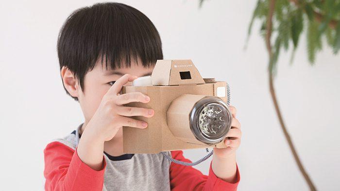 ダンボールのイメージを覆すクリエイティブおもちゃ。「Kazokutteダンボール工作キット」