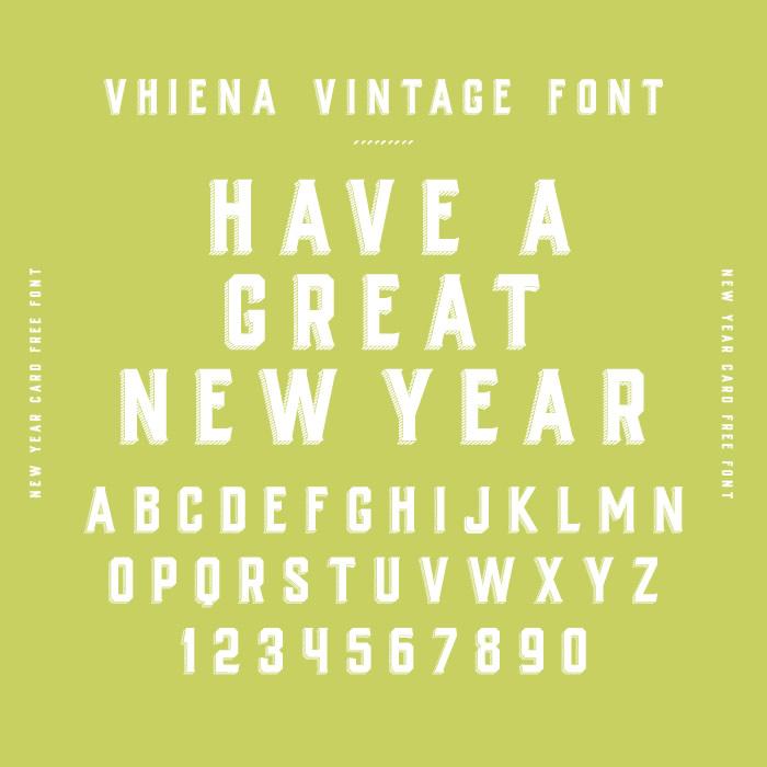 Vhiena Vintage Font