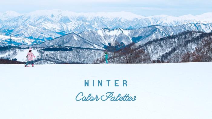 配色アイデアに使える!四季の写真でつくる冬のカラーパレット10個