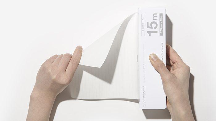 食品用ラップのように好きな長さでカットできる「ペーパーラップノート」がコクヨから発売!