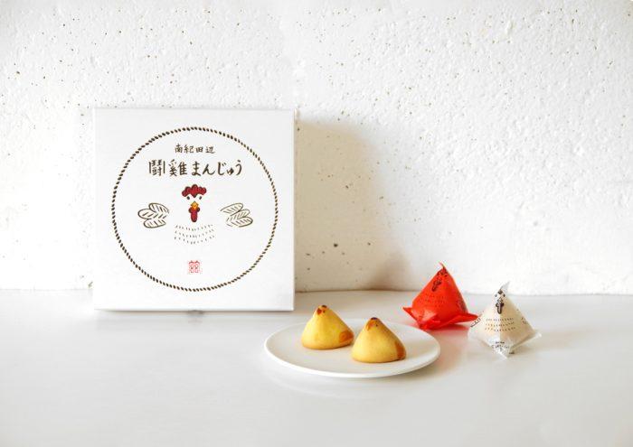 紅白の鶏がかわいい!トントン相撲ができちゃう箱も魅力の和歌山土産「鬪雞まんじゅう」