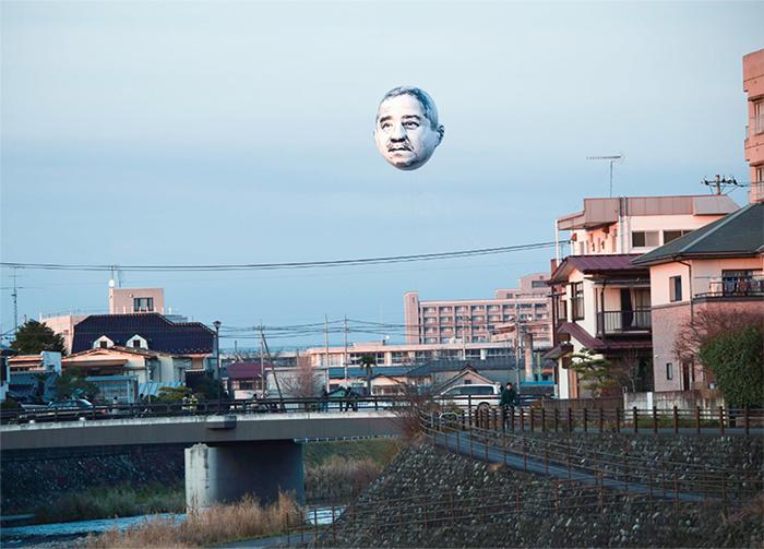 《おじさんの顔が空に浮かぶ日》宇都宮美術館 館外プロジェクト2013–14 写真提供:目