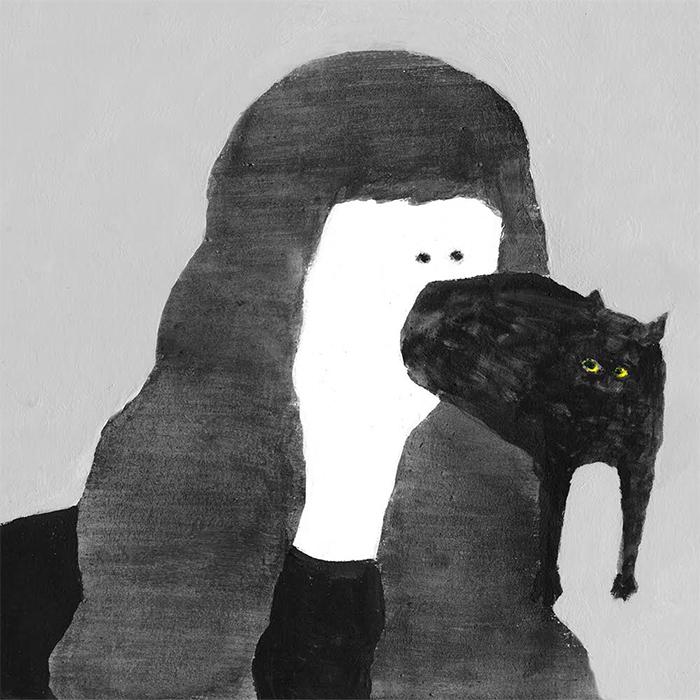 (猫が出た)