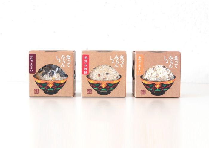 会津漆器がモチーフのパッケージがかわいい!福島土産の雑穀米「食ってみらんしょ」